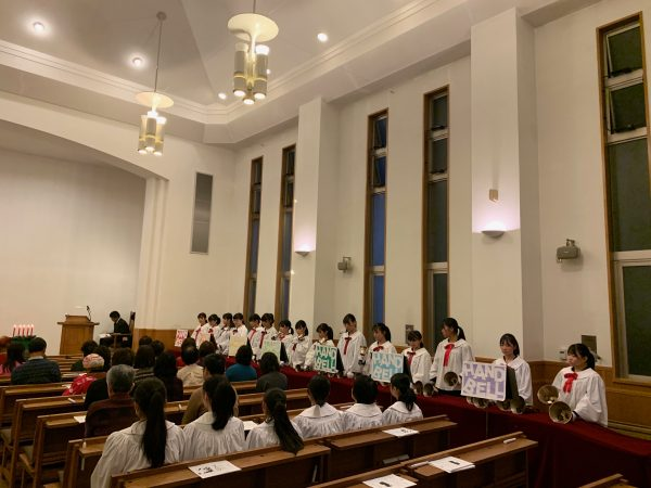 静岡英和女学院中学高等学校ハンドベルクワイアによる奏楽